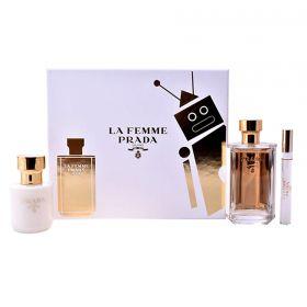 Prada La Femme 100 ml Edp en 10 ml Roll on en 100 ml BL eau de parfum spray